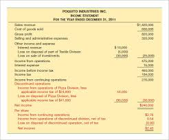 sample income statement template 11 free documents in pdf word