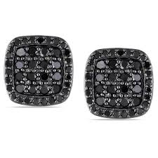 black diamond earrings for men black diamond square stud earrings lovely big square diamond