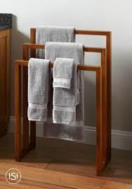 Teak Bathroom Hailey Teak Towel Rack Earthy Style Towel Holders And Earthy