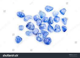 clear gemstones pile clear blue sapphire stock photo 125965457
