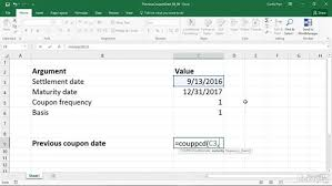 couppcd calculating the date of coupon due immediately before
