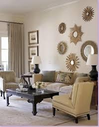 Living Room Ideas Beige Sofa Bedroom Enchanting Sunburst Mirror With Dark Wood Coffee Table