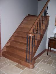 Premade Banister Custom Staircases U0026 Railings Wny Orchard Park Ny
