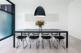 distance of dining room light from table for ultra modern decor