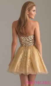 short gold party dress gold sequin short prom dresses promgirl