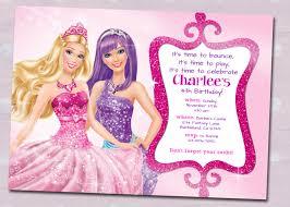 barbie birthday invitations plumegiant com
