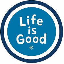 powder blue life is good circle sticker lig sphere powder blue