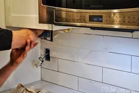 pbjstories installing subway tile for kitchen backsplash