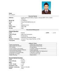 example of best resume malaysia resume ixiplay free resume samples