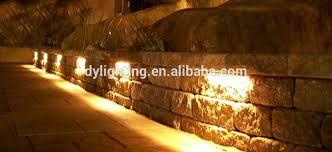 retaining wall lights under cap led 12v under deck rail stone cap light masonry retaining walls