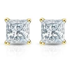 diamond stud earrings melbourne 0 40ct tw cushion cut diamond stud earrings 18k gold