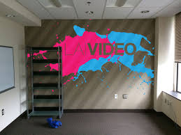 lai video office wall mural james favata office wall painting mock