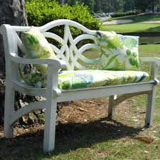 Outdoor Patio Cushion Storage Bench by A Sunny Yellow Bench For The Front Yard Small Decorative Garden