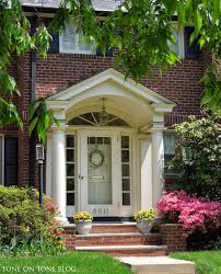 Cape Cod Front Porch Ideas The Grand Portico With Pediment Over Substantial Columns Gives