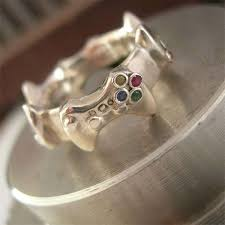 nerdy wedding rings nerdy controller wedding bands controller wedding bands