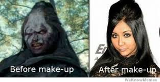 Snooki Meme - snooki before and after makeup weknowmemes