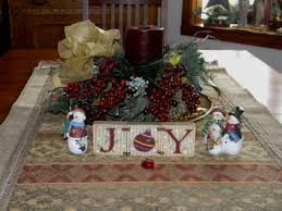 christmas decorations for dining room table rustic christmas