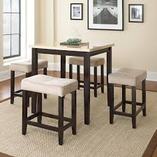 corliving belgrove 5 piece counter height dining table set dark