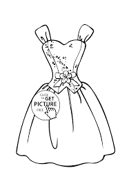 barbie dress coloring page for girls printable free coloing