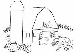 innovative barn coloring page 23 10066