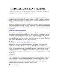 Sample Resume For Entry Level  sample resume for entry level entry     happytom co Good Medical Assistant Resume  entry level resume examples       sample resume for