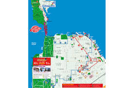 San Francisco Transportation Map by Hop On Hop Off Bus Tour San Francisco City Sightseeing