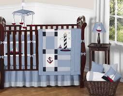 Nautical Crib Bedding Come Sail Away Nautical Baby Bedding 9 Pc Crib Set Only 189 99