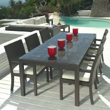 Patio Furniture Table Outdoor Wicker Patio Furniture New Resin 7 Pc Dining