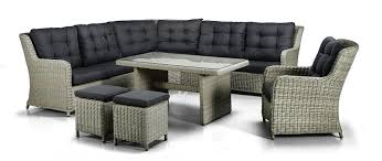 Esszimmer Cuba Xxl Luxus Hohe Dinning Poly Rattan Lounge