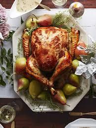 pear thyme brined turkey