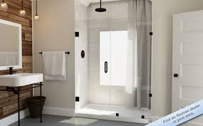 Glass Shower Doors Cost Semi Frameless Shower Enclosures And Glass Doors For Bath Within