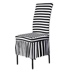 Black And White Striped Dining Chair Shzons Trade Classic Chair Slipcovers Stretch Ruffled