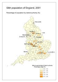 Sheffield England Map by Sikhengmap2001 British Religion In Numbersbritish Religion In