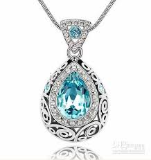 jewelry necklace images Wholesale 2012 new oean blue gemstone jewelry necklace gold jpg