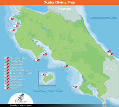 Map Costa Rica Costa Rica Scuba Diving