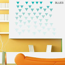geometric triangles vinyl wall sticker set by oakdene designs geometric triangles vinyl wall sticker set