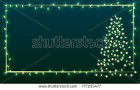 abstract christmas tree lights merry christmas stock vector
