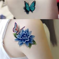 3d colorful diy mini flower butterfly stickers glitter for