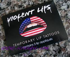 scrangie violent lips american flag lip tattoo