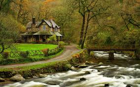 lake house landscape wallpaper download high definition