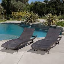 Outdoor Pool Furniture by Amazon Com Eliana Outdoor Brown Wicker Chaise Lounge Chairs Set