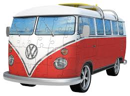 volkswagen van with surfboard clipart ravensburger vw t1 camper van 162pc 3d jigsaw puzzle