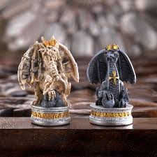 furniture stunning dragon chess set with artificial dragon design