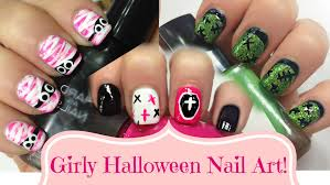 diy cute u0026 easy nail art for beginners girly u0026 pink halloween