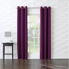 Purple Room Darkening Curtains Sun Zero Semi Opaque Tovi Magenta Room Darkening Curtain Panel