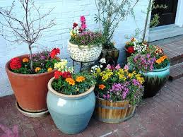 garden containers ideas herbs full on patio recycled garden pots