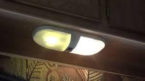 Led Rv Interior Lights Travel Trailer Remodel Part 11 Led Bulb Upgrade Youtube