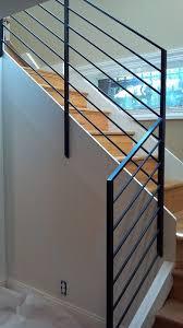 Steel Banister Rails Best 25 Stair Handrail Ideas On Pinterest Led Stair Lights
