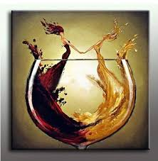 Wine Kitchen Decor Large Size Decorative Art 100 Hand Made Oil Painting On Canvas