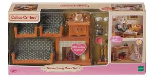 amazon com calico critters deluxe living room set toys u0026 games